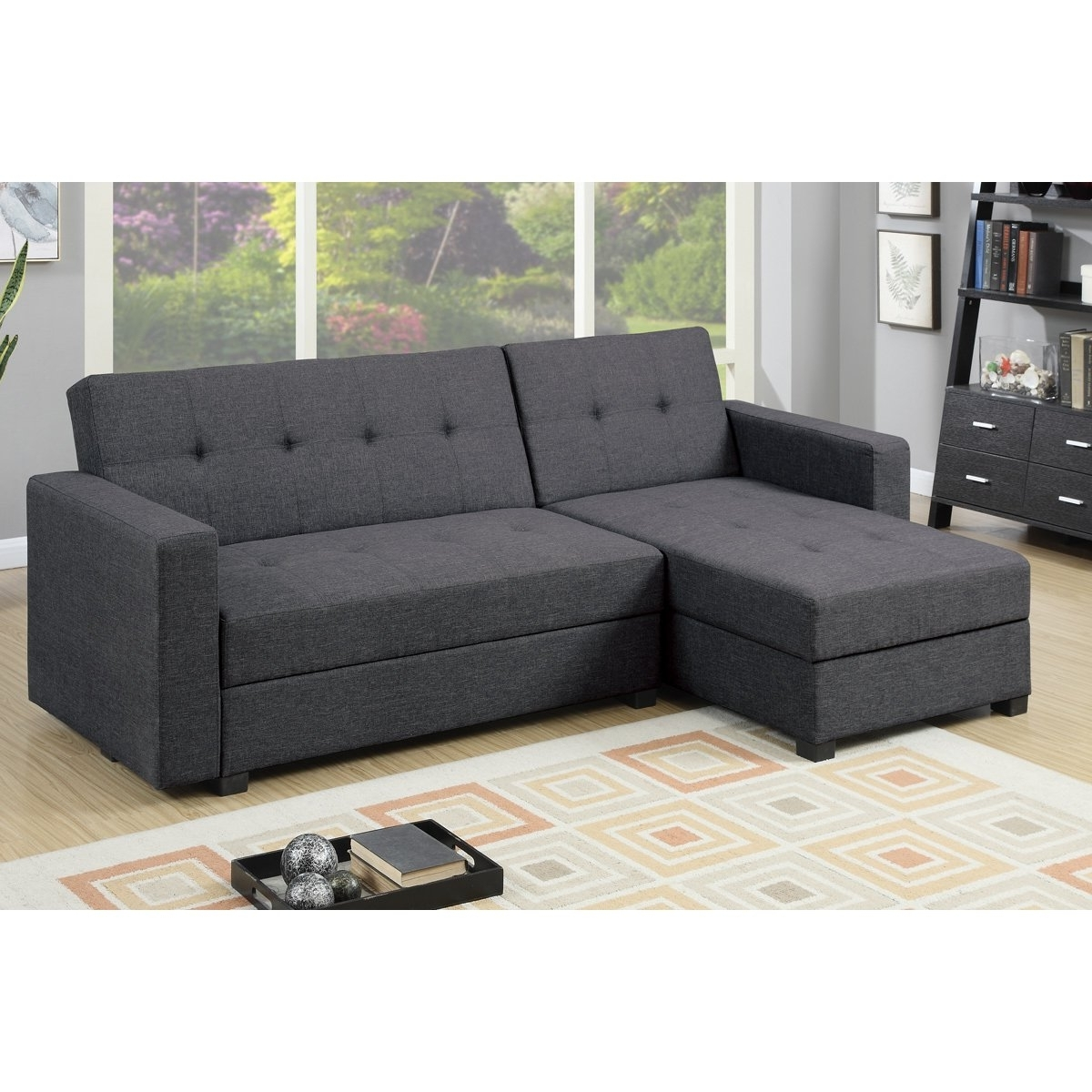 Trendy Sofas With Reversible Chaise Lounge Throughout Furniture: Reversible Chaise Sectional For Comfortable Living Room (View 12 of 15)