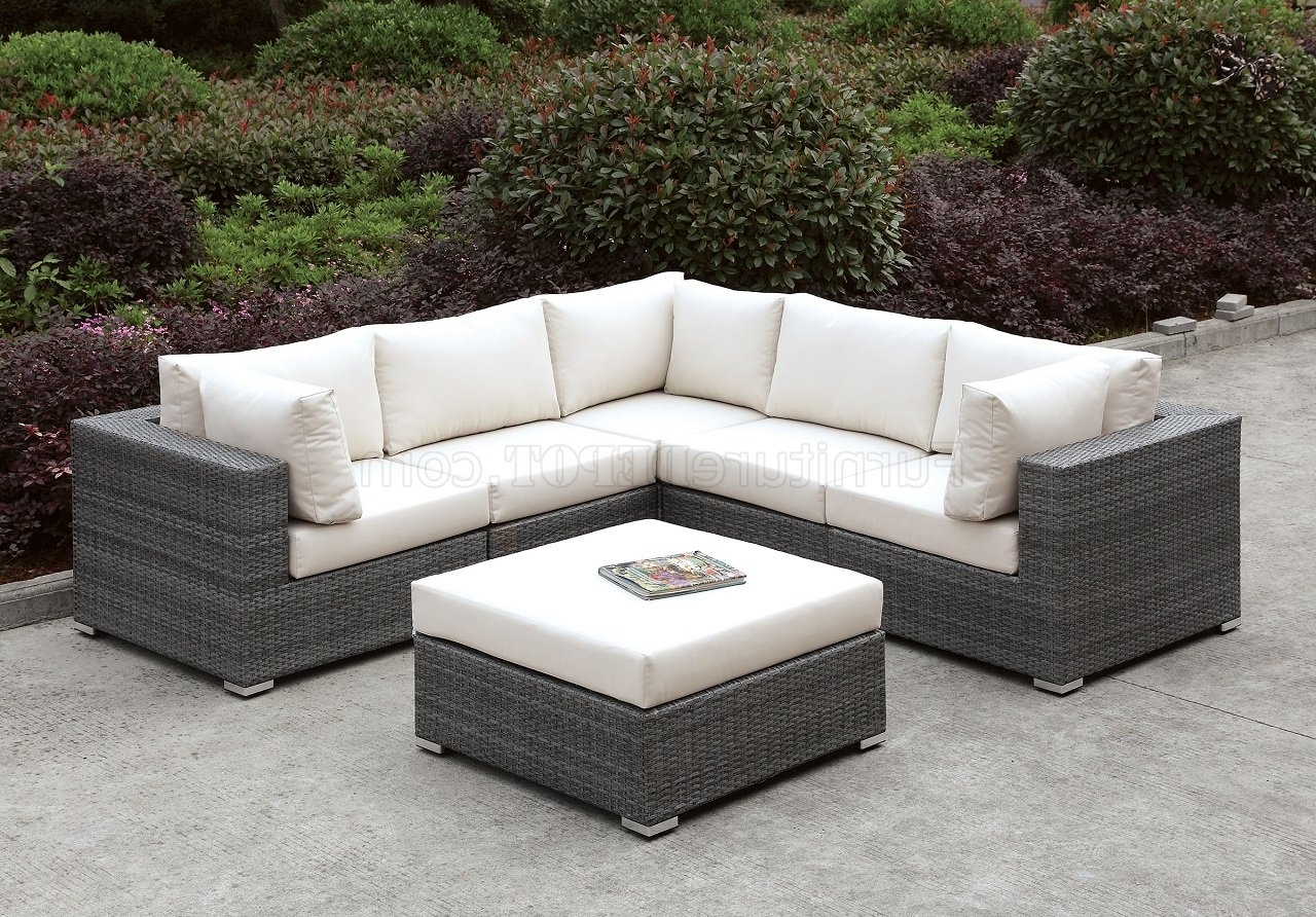 Trendy Somani Cm Os2128 12 Outdoor Patio L Shaped Sectional Sofa Set Intended For L Shaped Sofas (View 13 of 15)