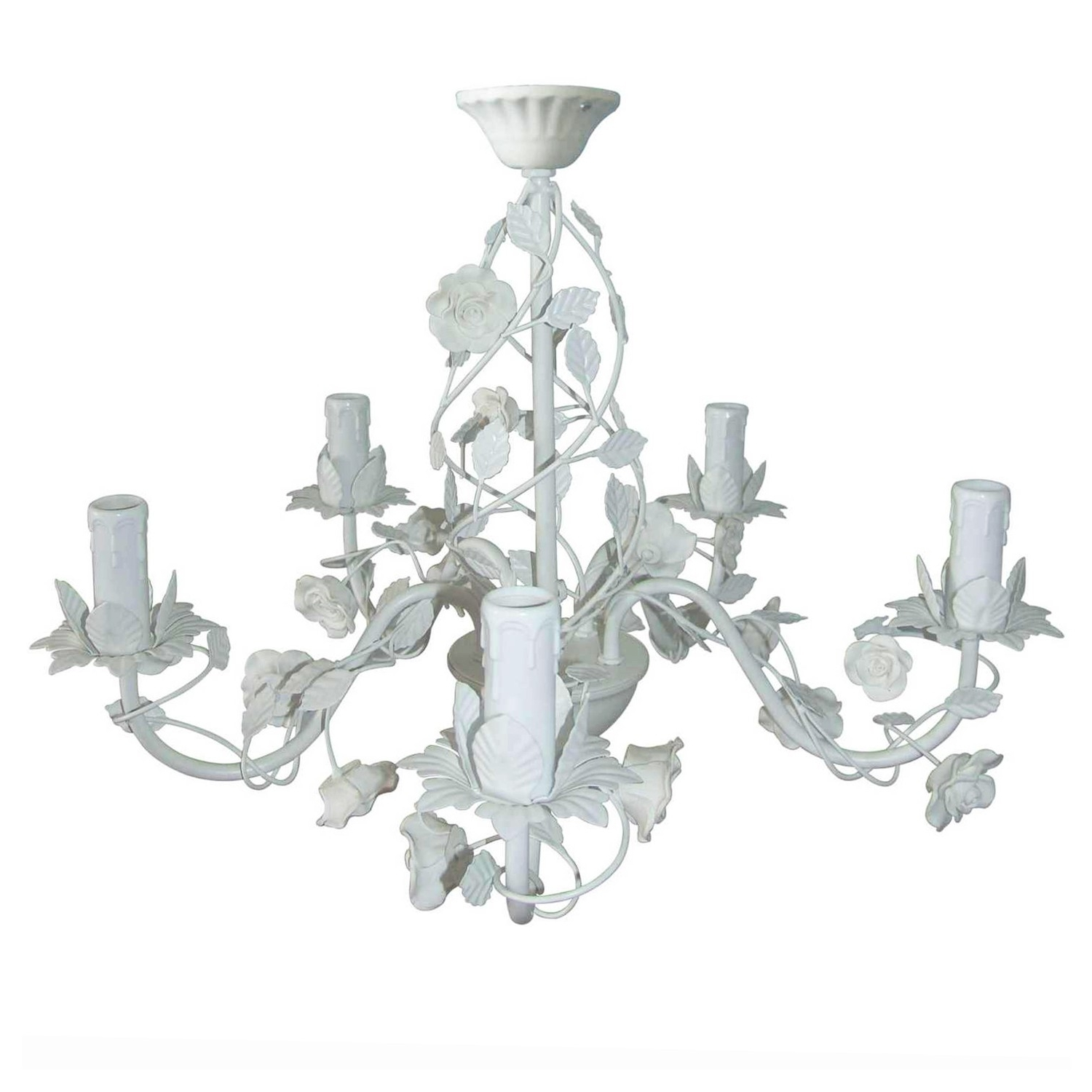 Trendy This Cream Rose 5 Arm Chandelier Is A Beautiful Light Fixture In In Cream Chandelier Lights (View 8 of 15)