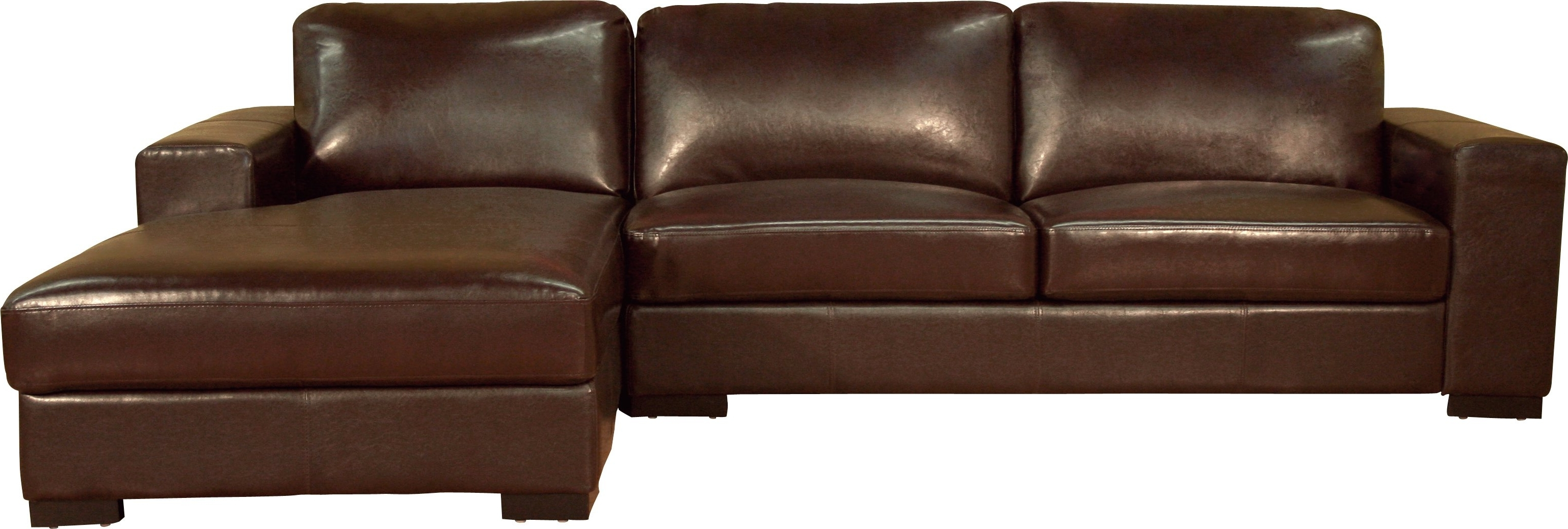 Trendy Tight Brown Leather Sectional Chaise Couch Of Pleasurable Brown For Leather Sofas With Chaise (View 9 of 15)