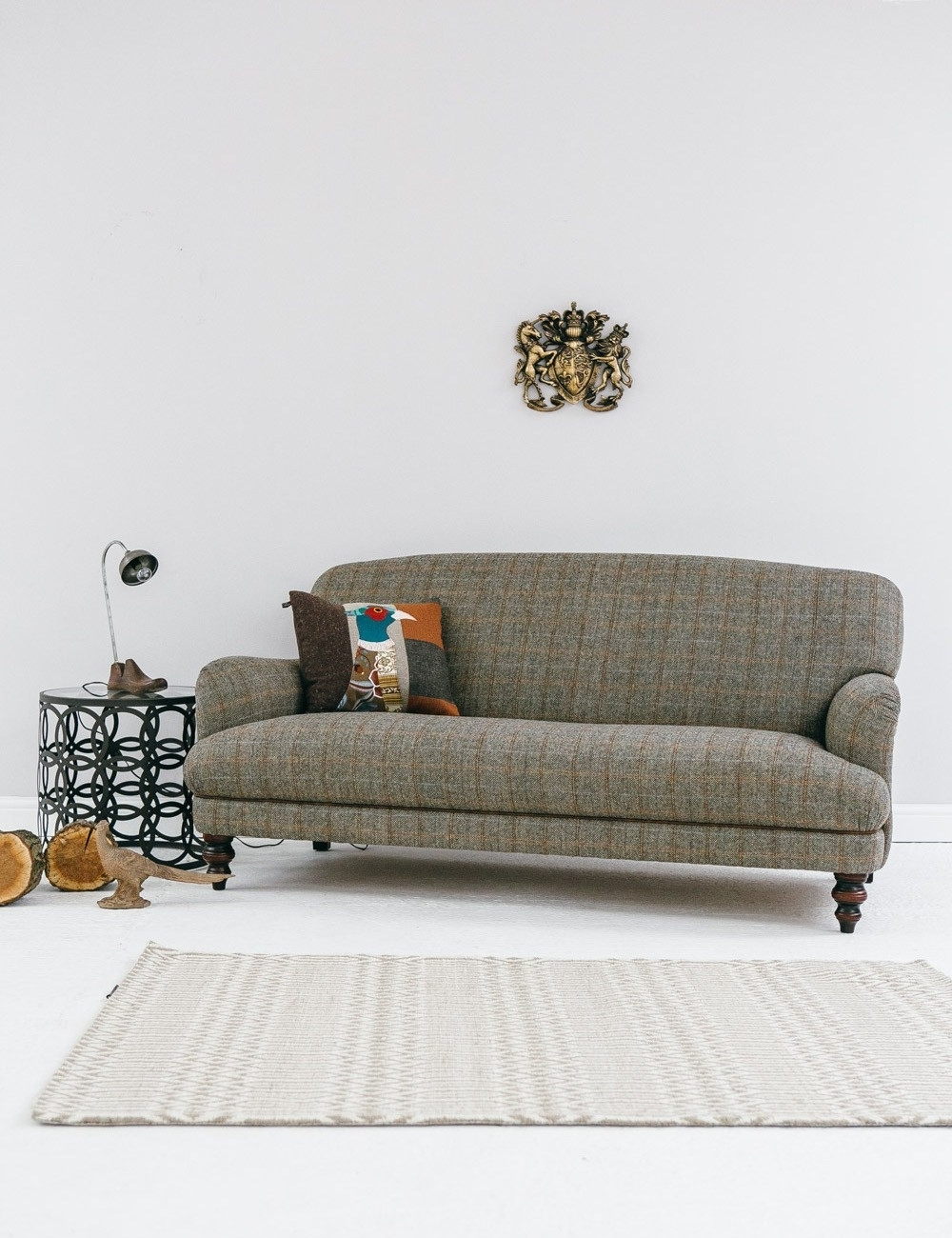 Trendy Tweed Fabric Sofas For Manor Harris Tweed Sofa In Bracken At Rose And Grey (View 2 of 15)