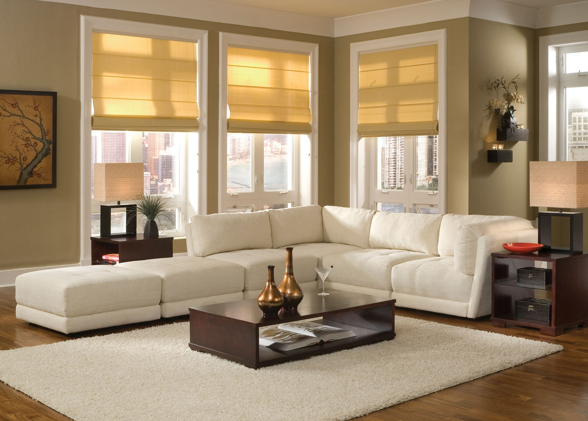 Trendy White Sofa Design Ideas & Pictures For Living Room Intended For Sectional Sofas Decorating (View 9 of 15)
