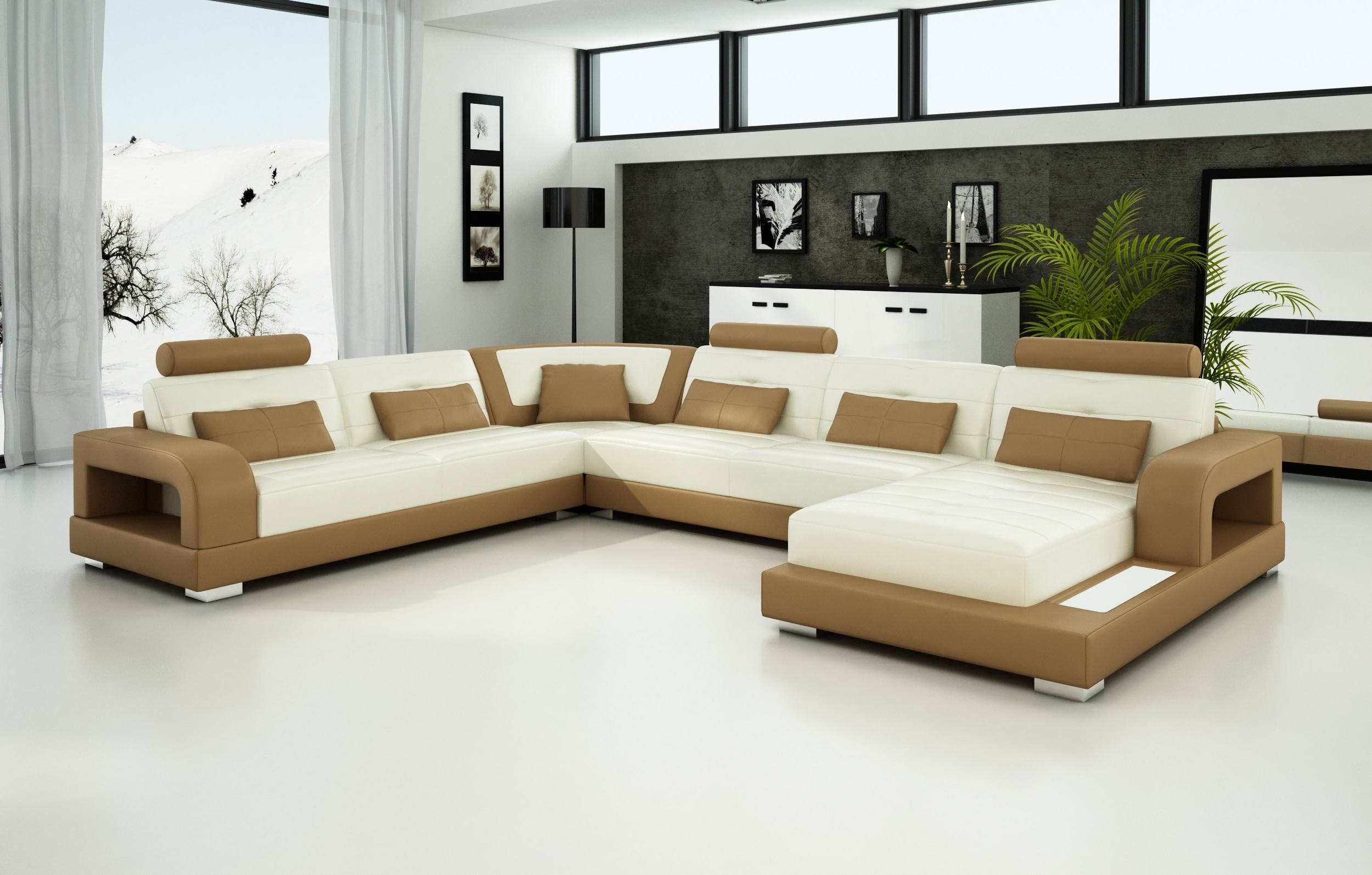 Trinidad And Tobago Sectional Sofas With Most Popular Olympian Sofas Pesaro Light Brown Leather Sofa – Sectional Sofas (View 6 of 15)