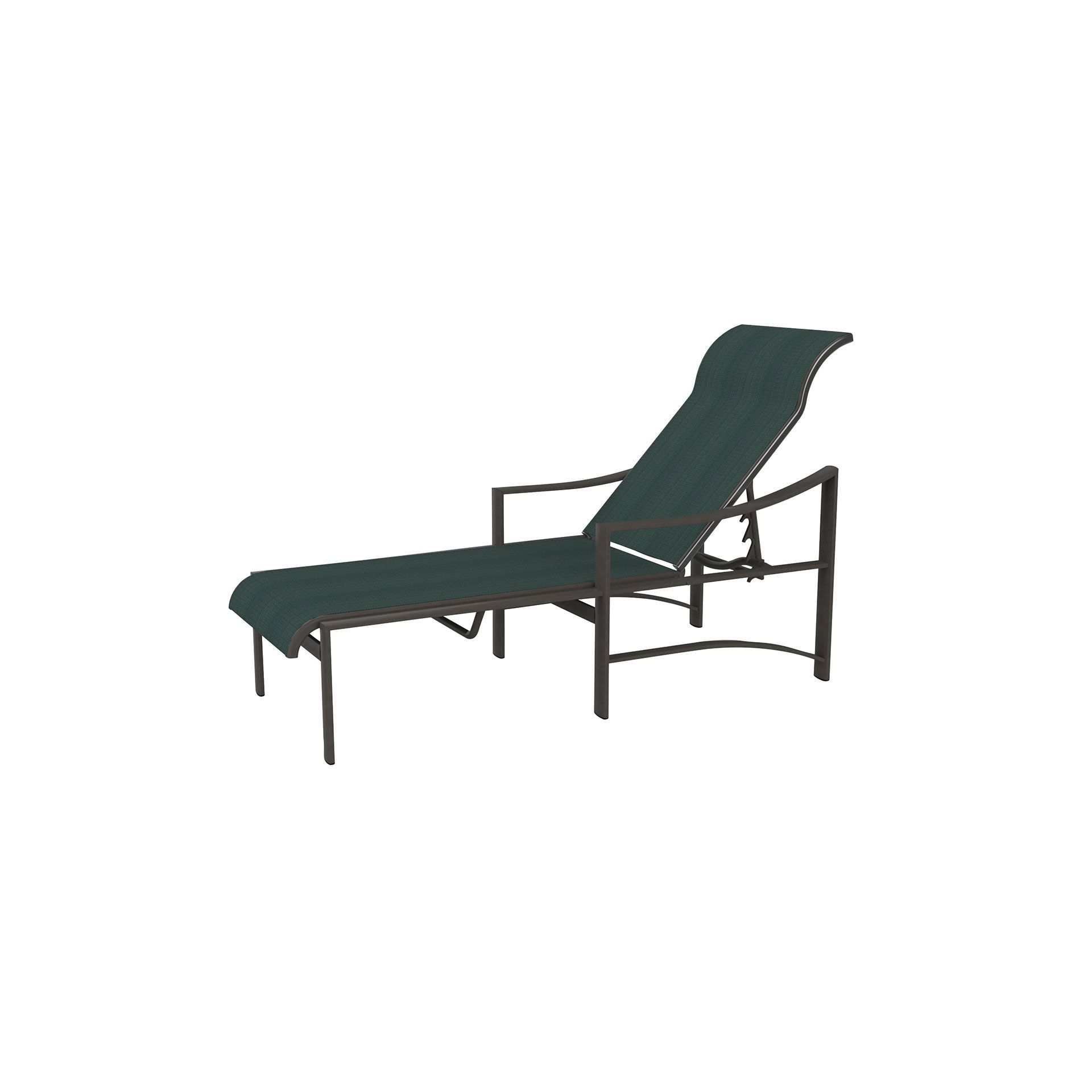 Tropitone Chaise Lounges With Well Known Tropitone Kenzo Sling Chaise Lounge – Leisure Living (View 8 of 15)