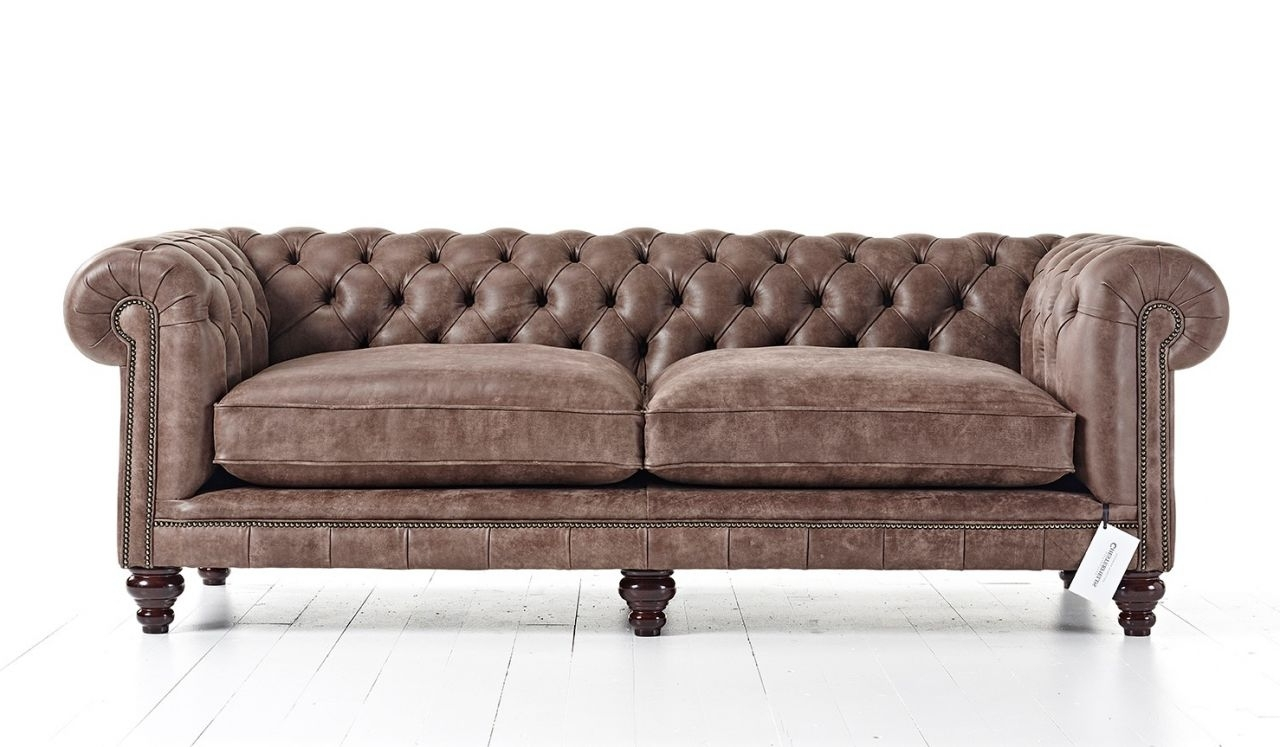 Tufted Couch Intended For Leather Chesterfield Sofas (View 13 of 15)