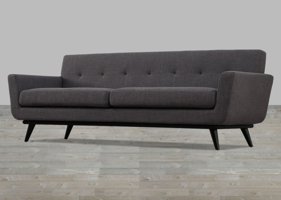 Tufted Linen Sofas Within 2018 Linen Sofa Button Tufted (View 12 of 15)
