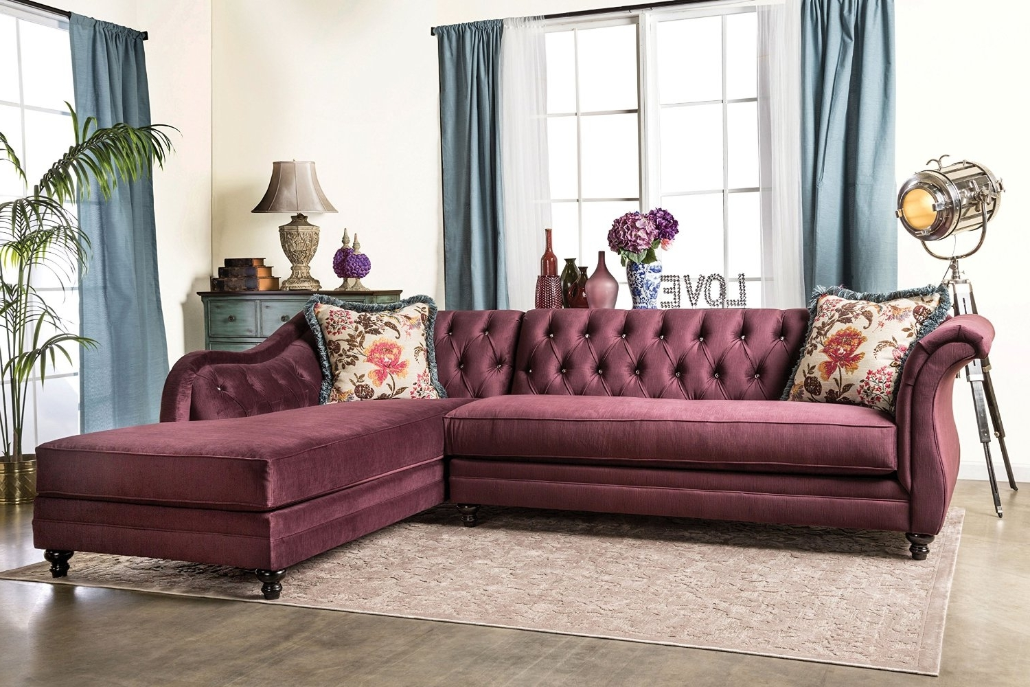 Tufted Sectional Sofas With Chaise Pertaining To Fashionable Sofa : Target Tufted Loveseat Tufted Leather Furniture White (View 9 of 15)