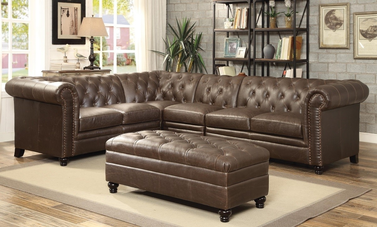 Tufted Sectional Sofas With Regard To Fashionable Roy Button Tufted Sectional Sofa With Armless Chair Lowest Price (View 3 of 15)