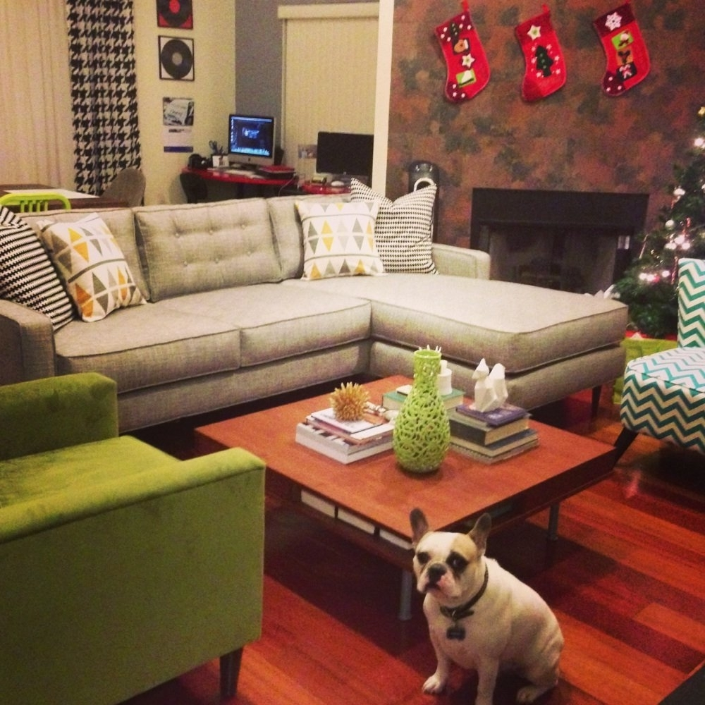 Tufted Sectionals With Chaise Pertaining To Preferred White Tufted Sectional Designs (View 14 of 15)