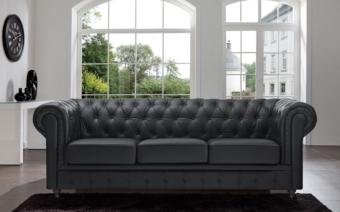 Tufted Sofas With Chaise In Preferred 25 Best Chesterfield Sofas To Buy In  (View 9 of 15)