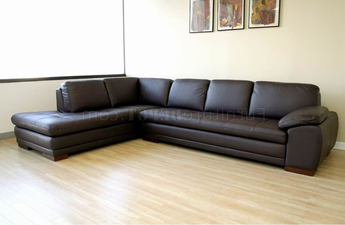 Tufted Sofas With Chaise Throughout Favorite Tufted Leather Right Facing Chaise Modern Sectional Sofa (View 11 of 15)