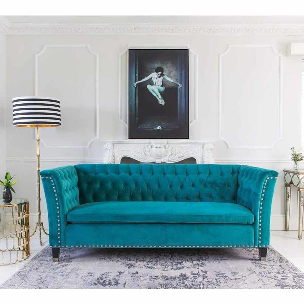 Turquoise Sofa, Nightingale Within Turquoise Sofas (View 11 of 15)