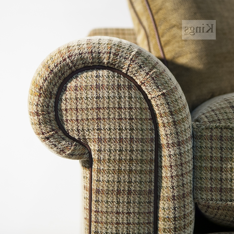 Tweed Fabric Sofa (View 10 of 15)