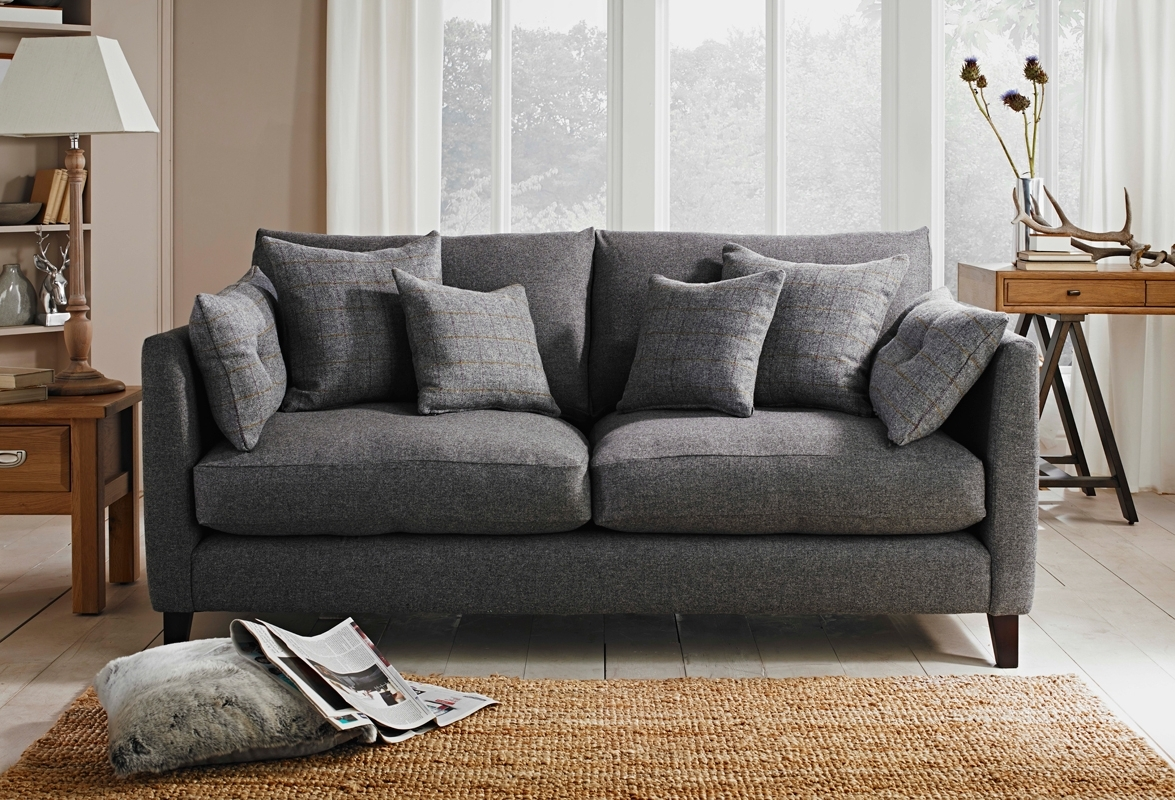 Tweed Fabric Sofas Inside Well Known Evolution Sofa – Custom Co. In Scafell Storm Fabric (View 12 of 15)