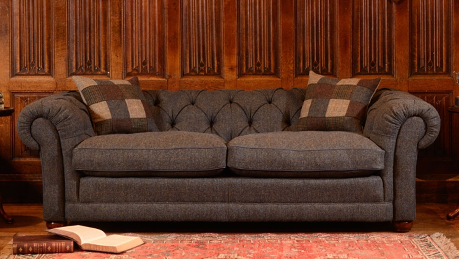 Tweed Fabric Sofas Within Most Up To Date Tetrad Harris Castlebay Petit Sofa (View 7 of 15)
