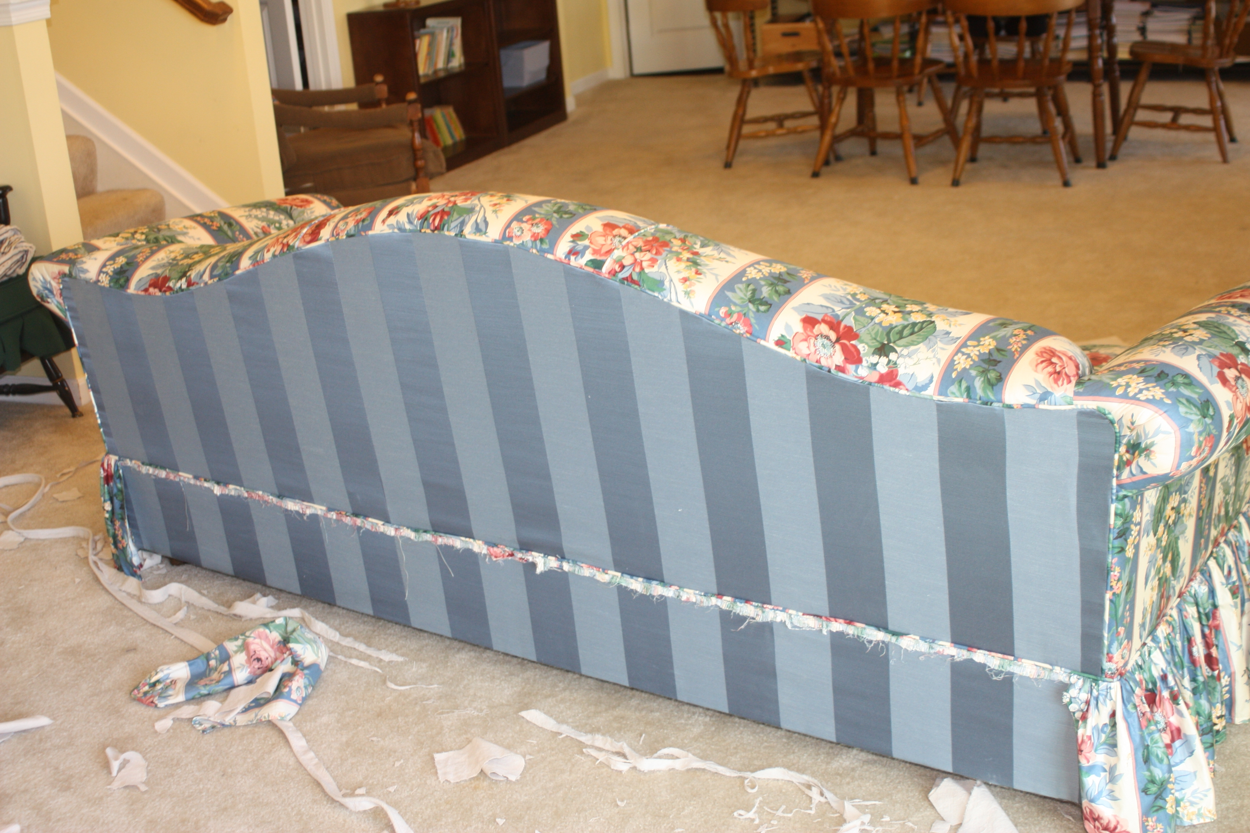 Twill Slipcover Studio With Popular Chintz Floral Sofas (View 9 of 15)