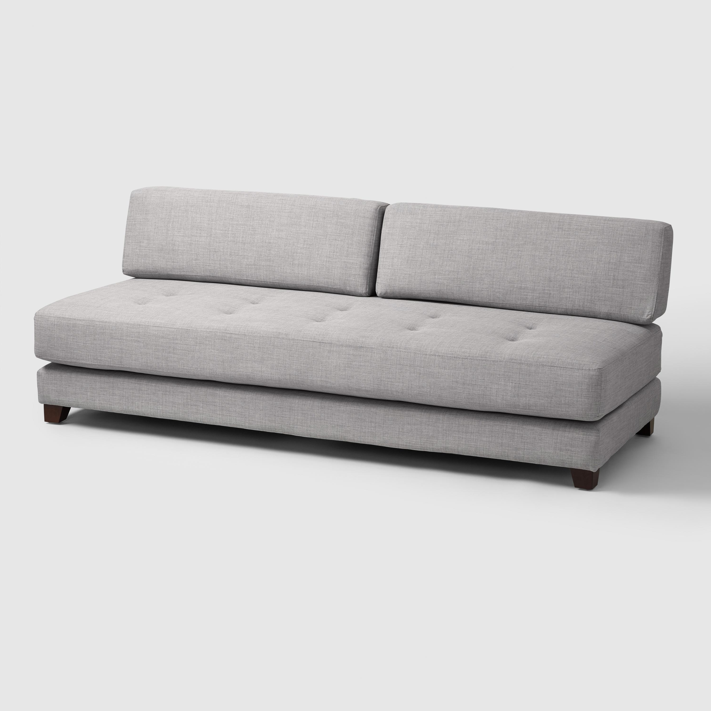 Twin Bed Tufted Pillow Back Lounge Reversible Corner Chaise Sofa With Regard To Best And Newest Daybed Chaises (View 15 of 15)