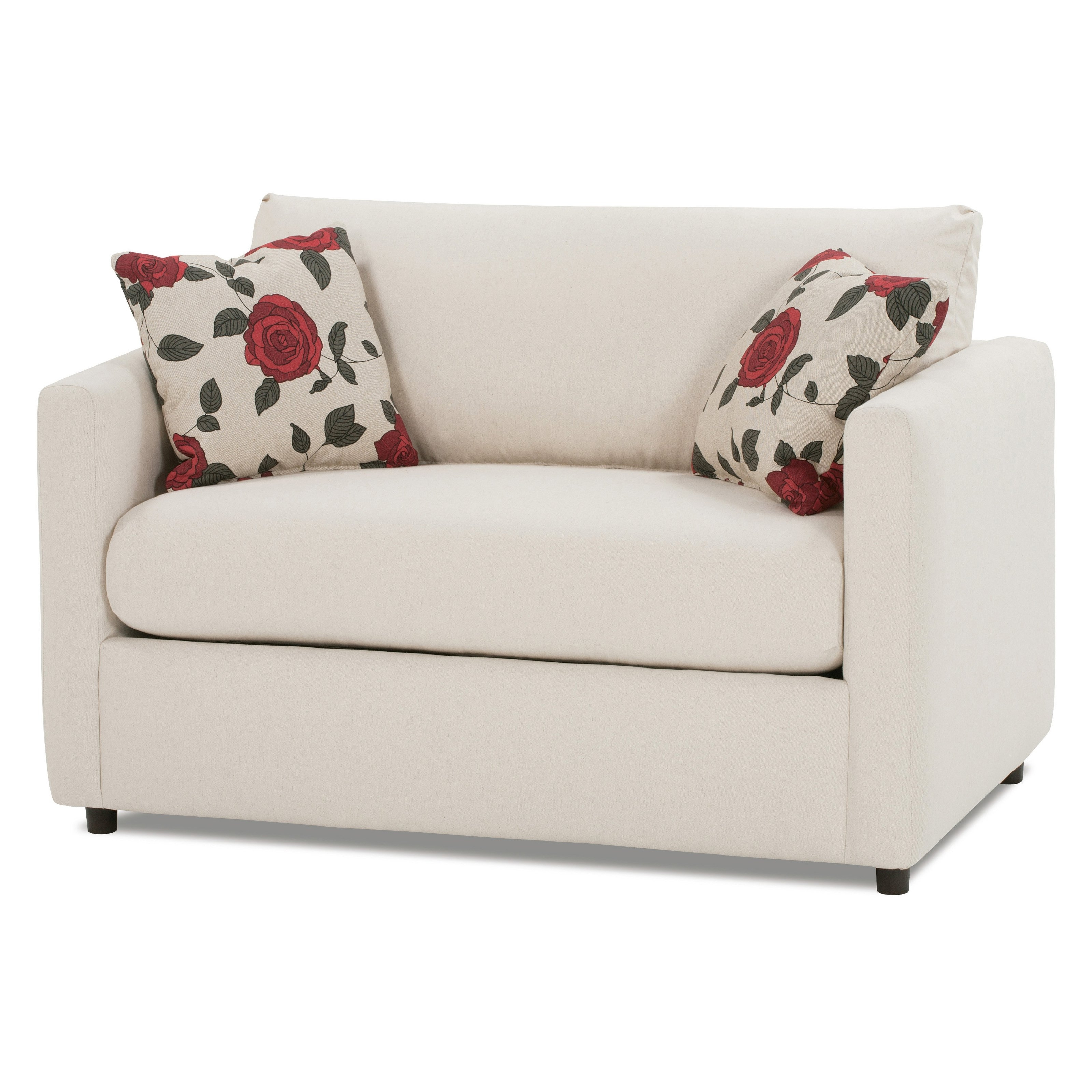 Twin Sofa Chairs In Most Up To Date White Color Leather Twin Size Sleeper Sofa With Storage And Pillow (View 3 of 15)