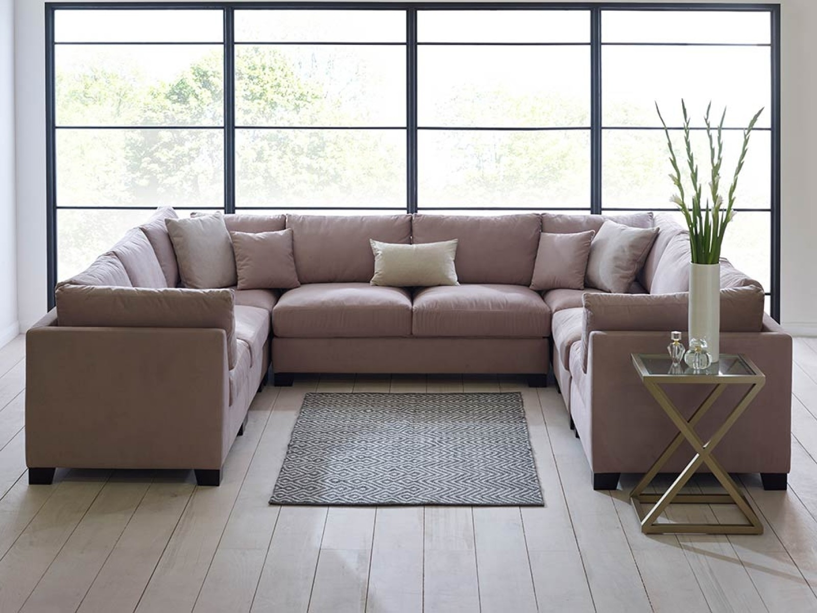 U Shaped Leather Sectional Sofas Intended For Recent U Shaped Sofa – Google Search (View 10 of 15)