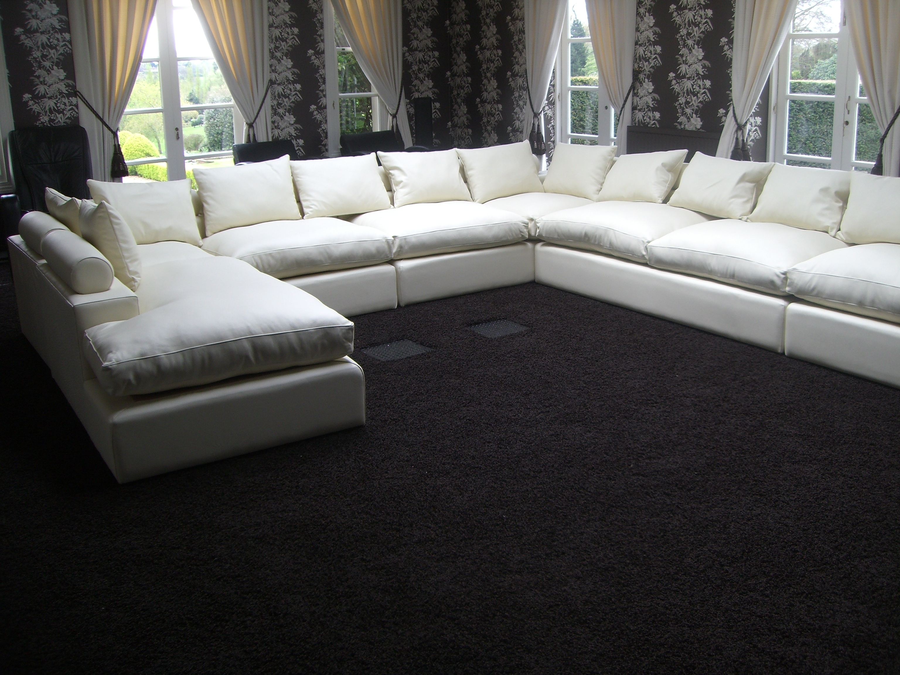 U Shaped Sectionals With Regard To 2018 Sofa : Endearing U Shaped Fabric Sofa U Shaped Fabric Sofa U (View 12 of 15)
