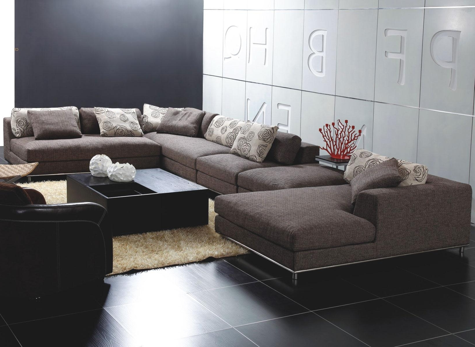 Unique Sectional Sofas Regarding Newest Stunning Modern Sectional Sofas With Chaise On Leather Reclining (View 10 of 15)