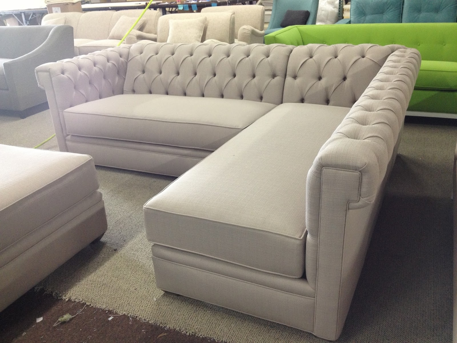 Unique Tufted Sectional With Chaise 98 On Living Room Sofa Ideas regarding Most Recently Released Tufted Sectionals With Chaise
