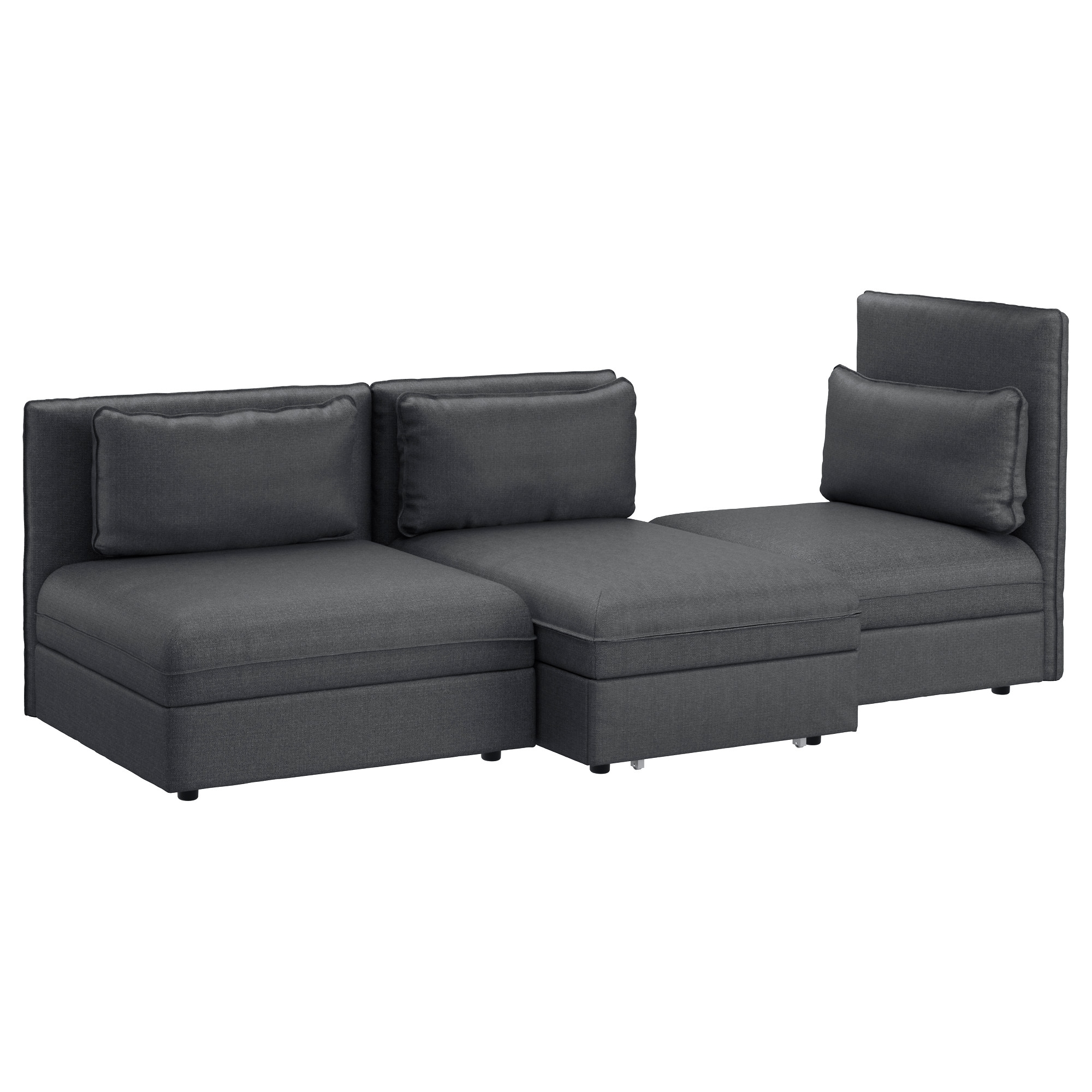 Vallentuna Sleeper Sectional, 3 Seat – Hillared Dark Gray – Ikea Inside Best And Newest Ikea Sectional Sofa Beds (View 14 of 15)