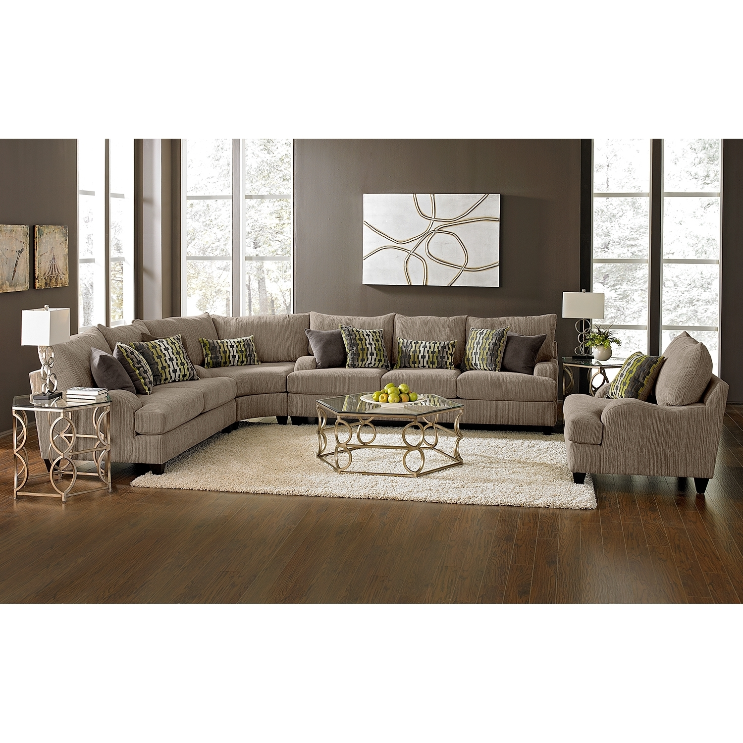 Value City Sectional Sofas Regarding Best And Newest Santa Monica Ii Upholstery 3 Pc (View 13 of 15)