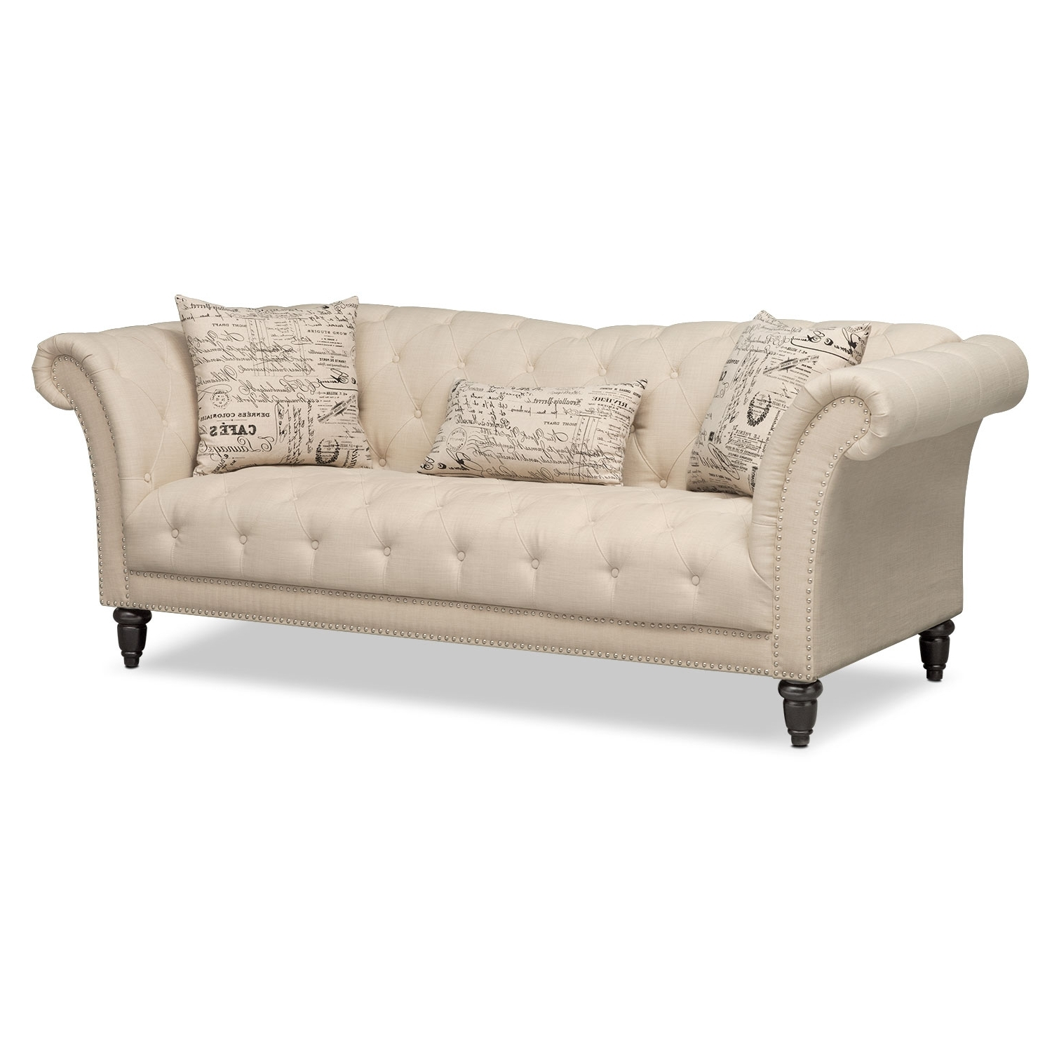 Value City Sofas Intended For Fashionable Marisol Sofa – Beige (View 10 of 15)