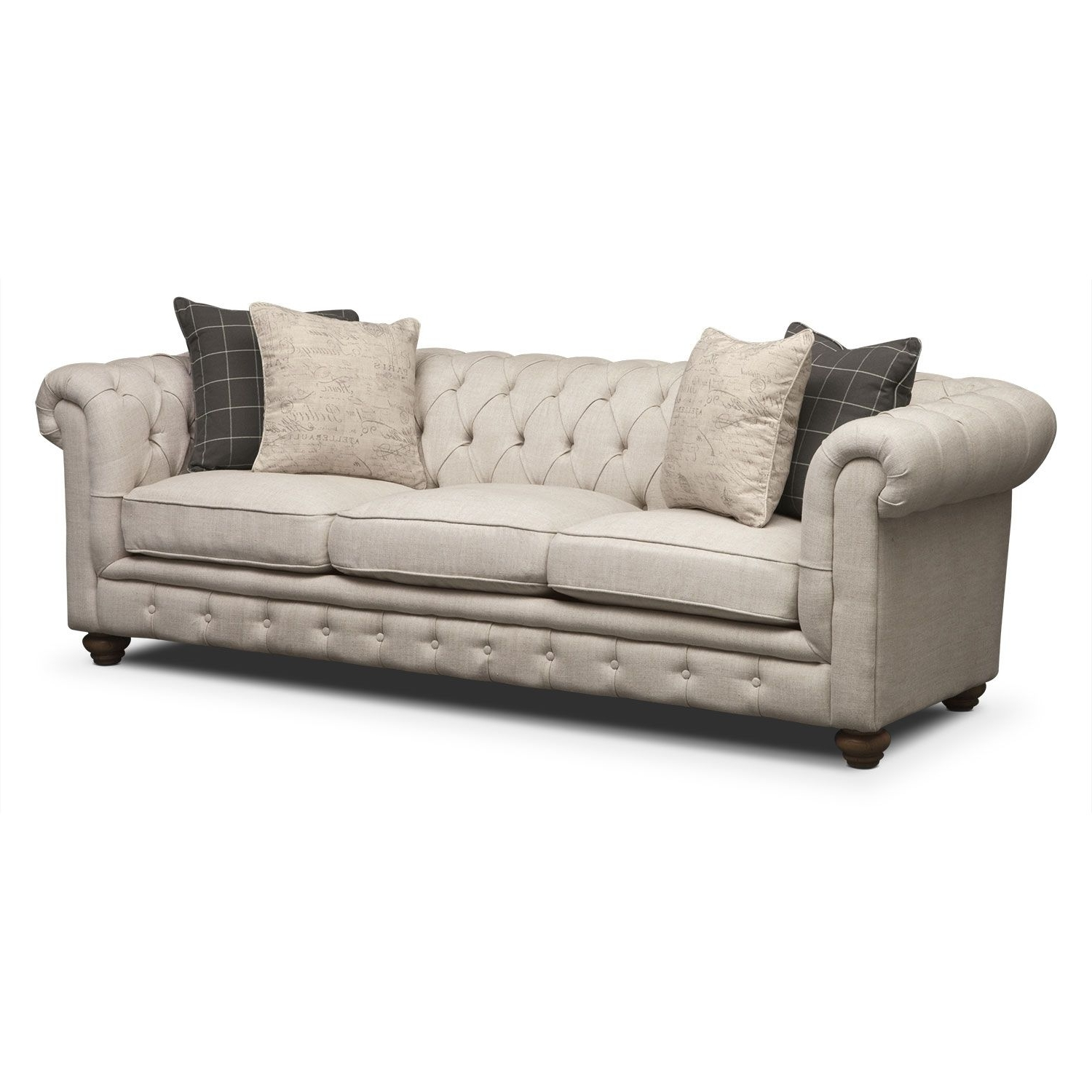 Value City Sofas Regarding Current Living Room Furniture – Madeline Sofa; $799. Living Room (View 11 of 15)