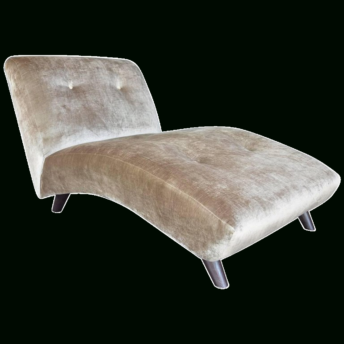 Velvet Chaise Lounges Regarding Well Liked Viyet – Designer Furniture – Seating – Vintage Velvet Chaise Lounge (Gallery 5 of 15)