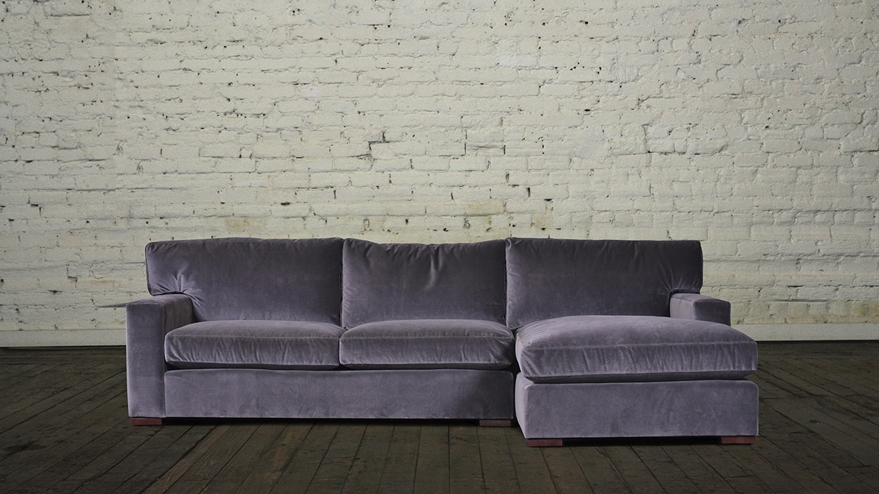 Velvet Chaise Settees With Regard To Favorite Sectional Sofa Design: Velvet Sectional Sofa With Chaise High (View 7 of 15)