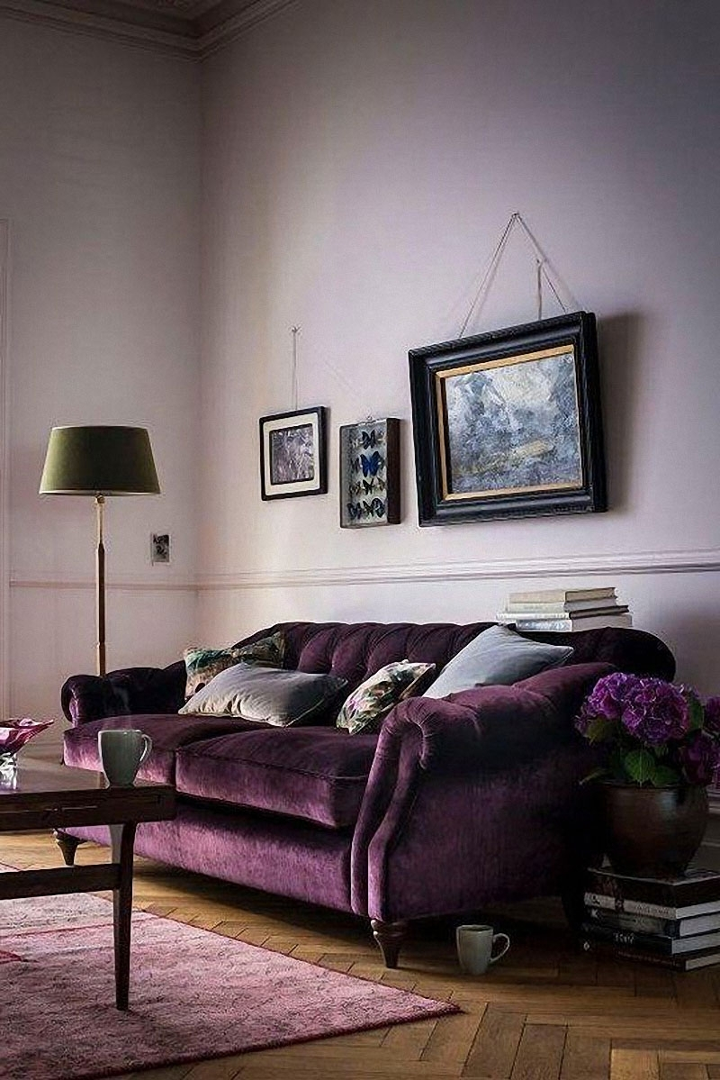 Velvet Purple Sofas for Current 12 Royally Purple Velvet Sofas For The Living Room