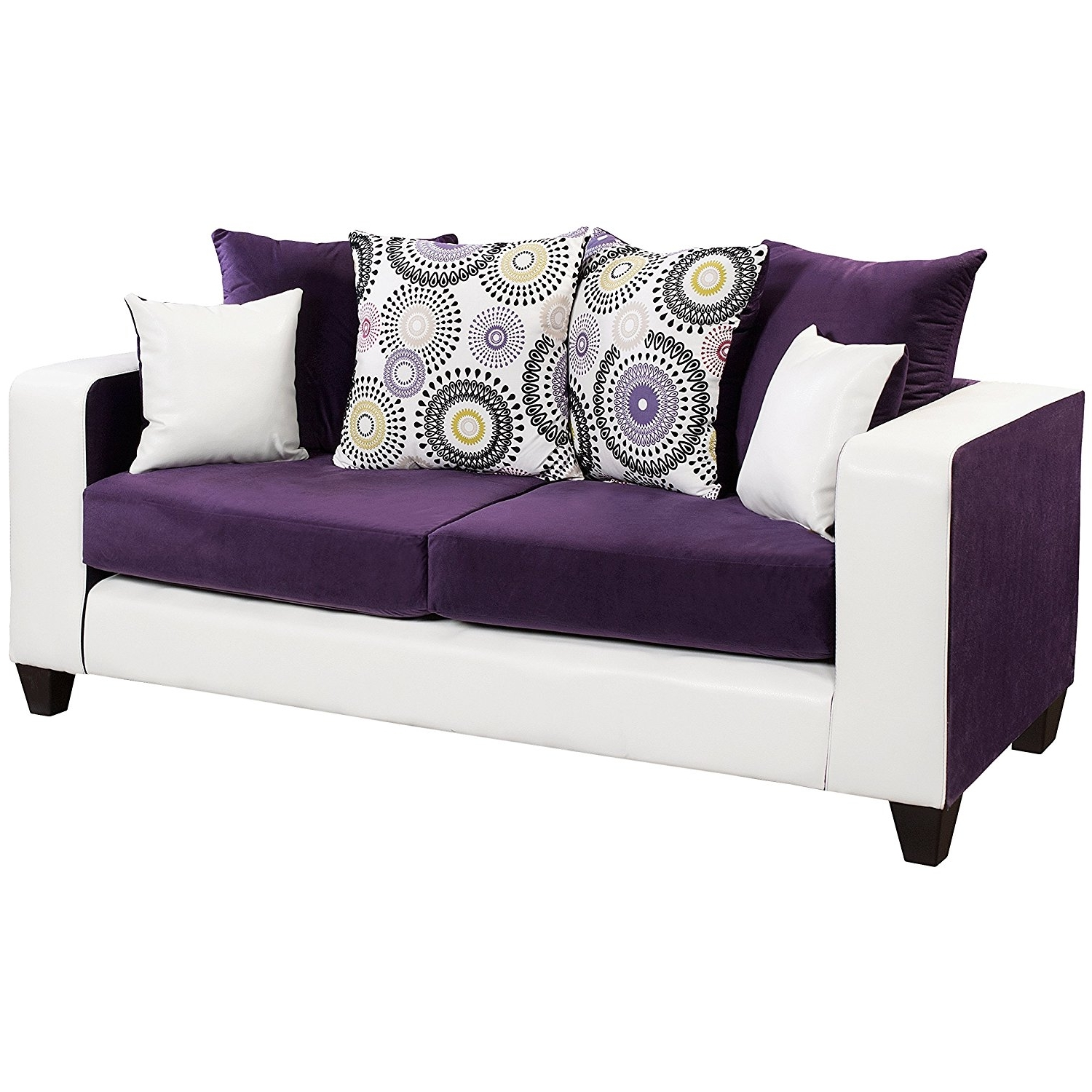 Velvet Purple Sofas In Widely Used Amazon: Flash Furniture Riverstone Implosion Purple Velvet (View 15 of 15)