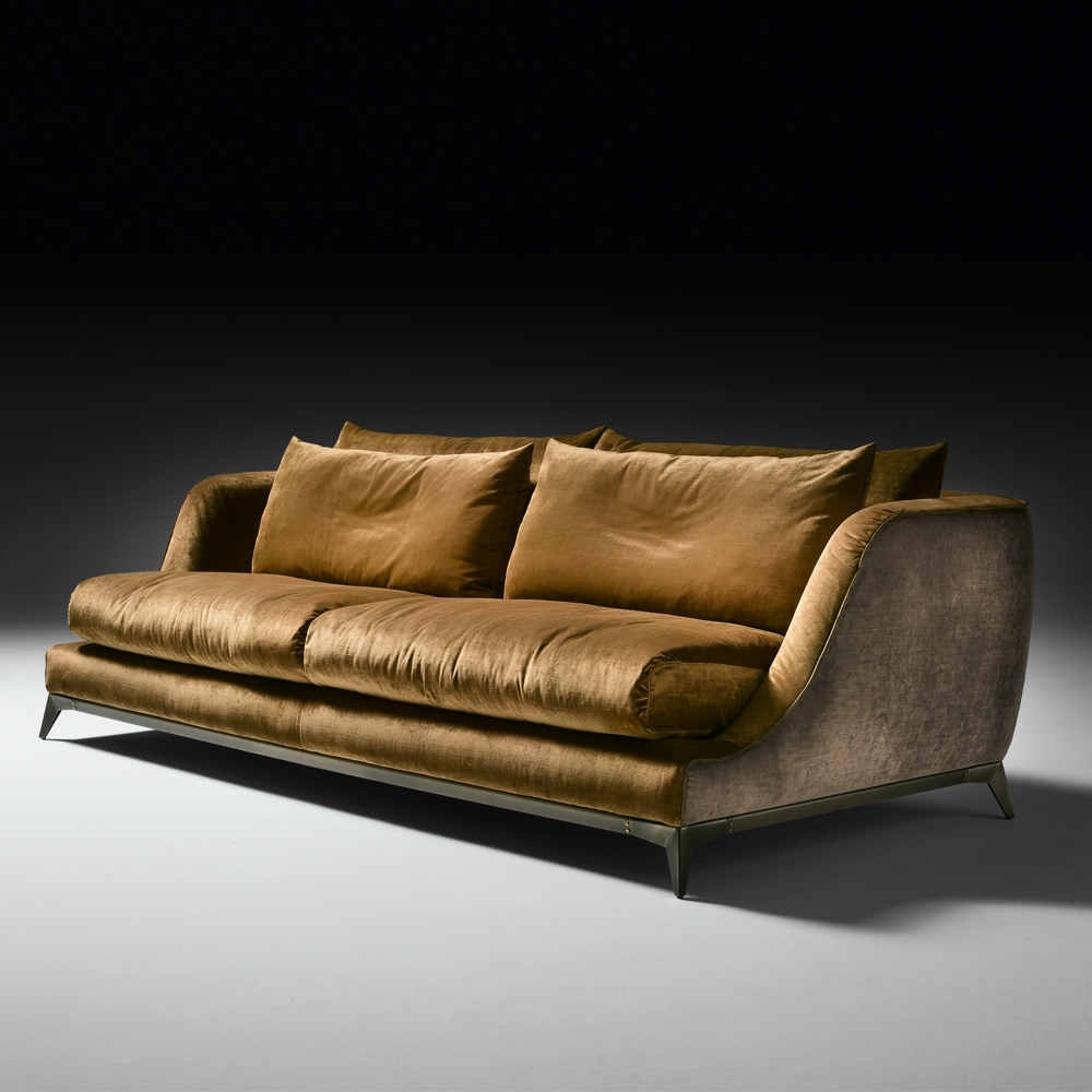 Velvet Sofas intended for Preferred Contemporary Designer Velvet Sofa