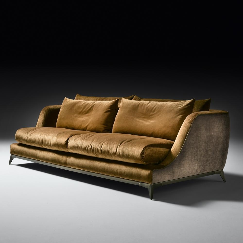 Velvet Sofas Intended For Preferred Contemporary Designer Velvet Sofa (View 6 of 15)