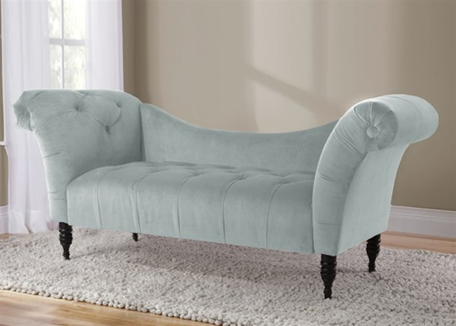 Velvet Tufted Chaise Lounge – Poolskyline Furniture – Home Within Newest Tufted Chaise Lounge Chairs (View 14 of 15)