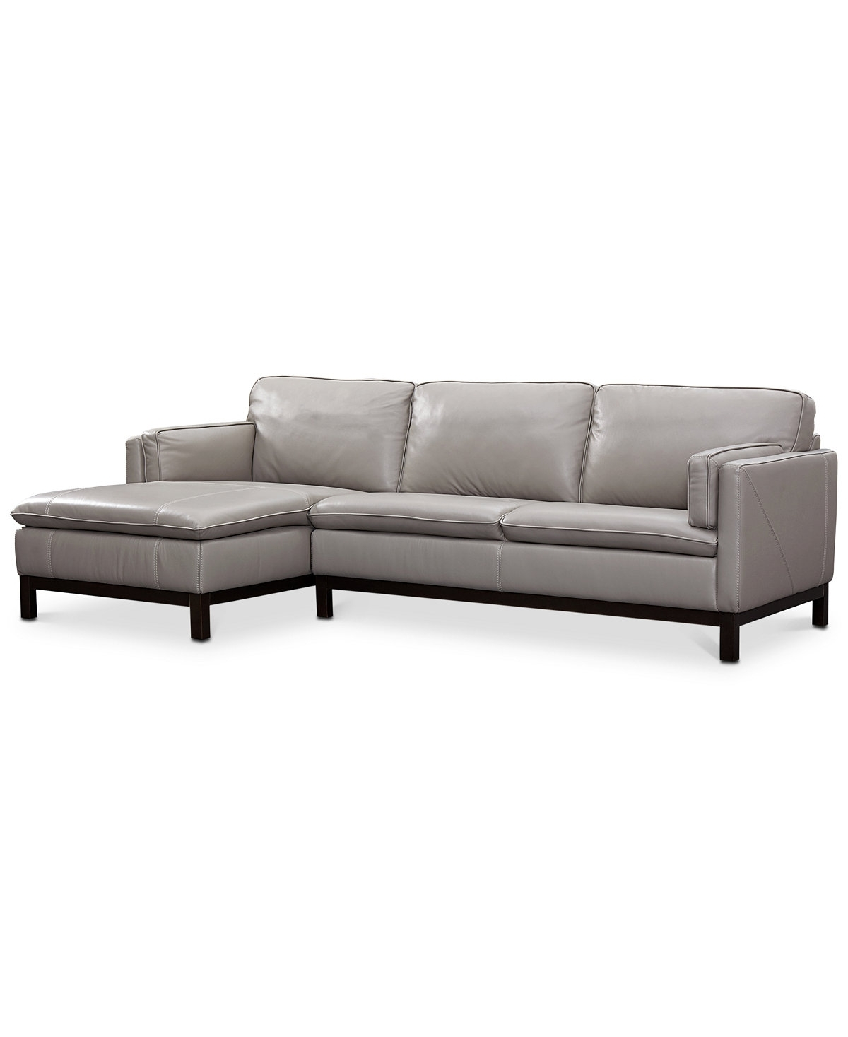Ventroso 2-Pc. Leather Chaise Sectional Sofa, Created For Macy's inside Best and Newest El Paso Tx Sectional Sofas