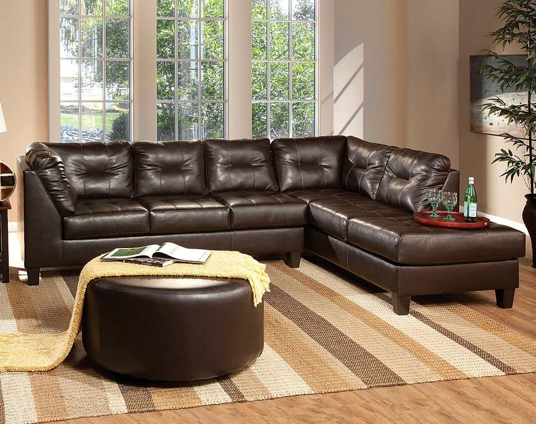Venus Chocolate Sectional Sofa (Gallery 1 of 15)