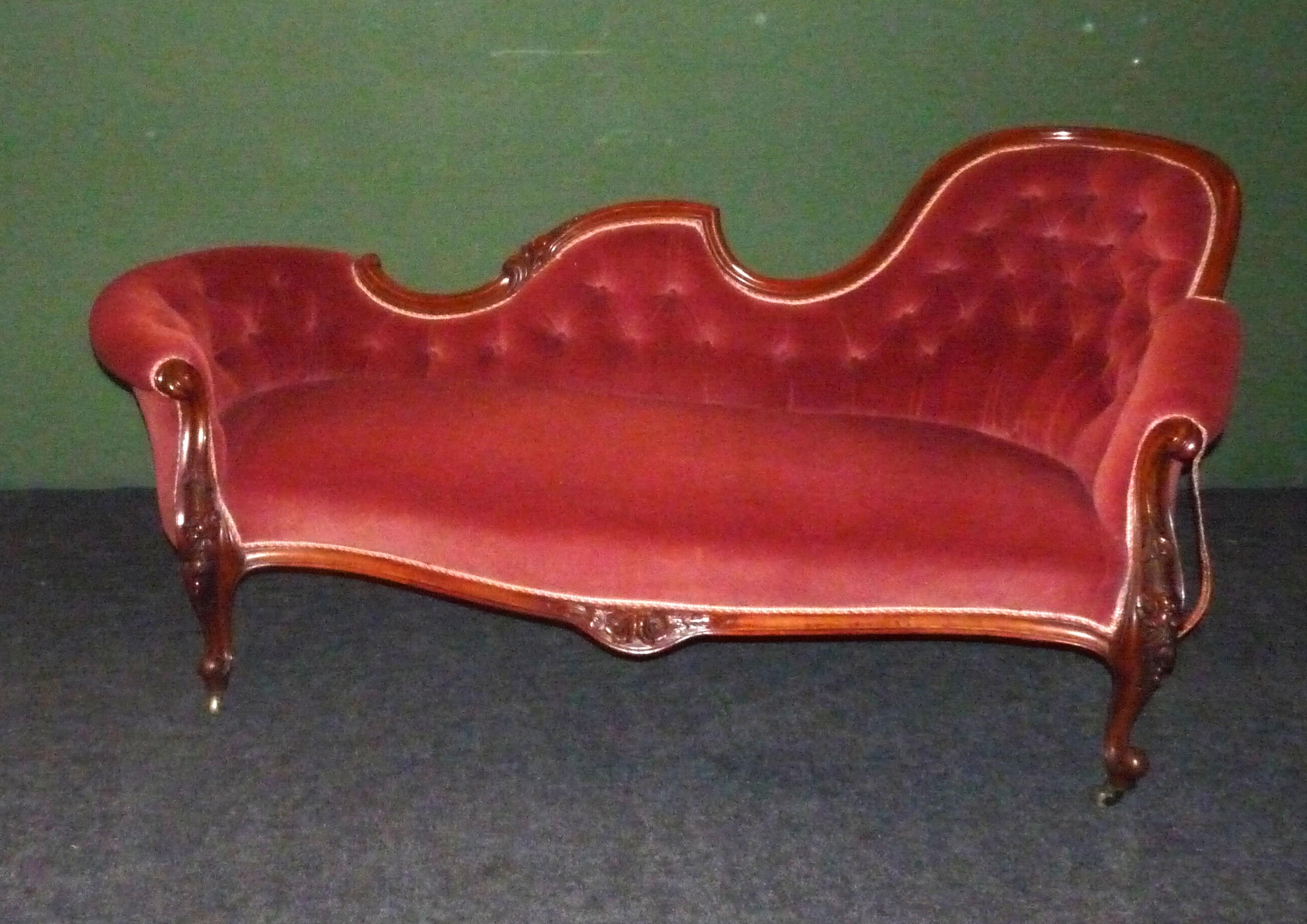 Victorian Chaise Lounges Regarding Most Recent Vintage Victorian Chaise Lounge – Home Design And Decor (View 13 of 15)