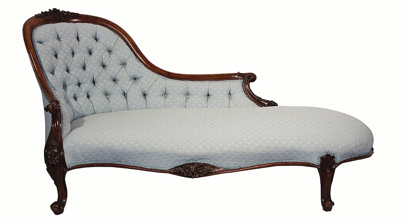 Victorian Chaises Intended For Preferred Victorian Walnut Chaise Longue Floral Moulded Single Chair Back (View 8 of 15)