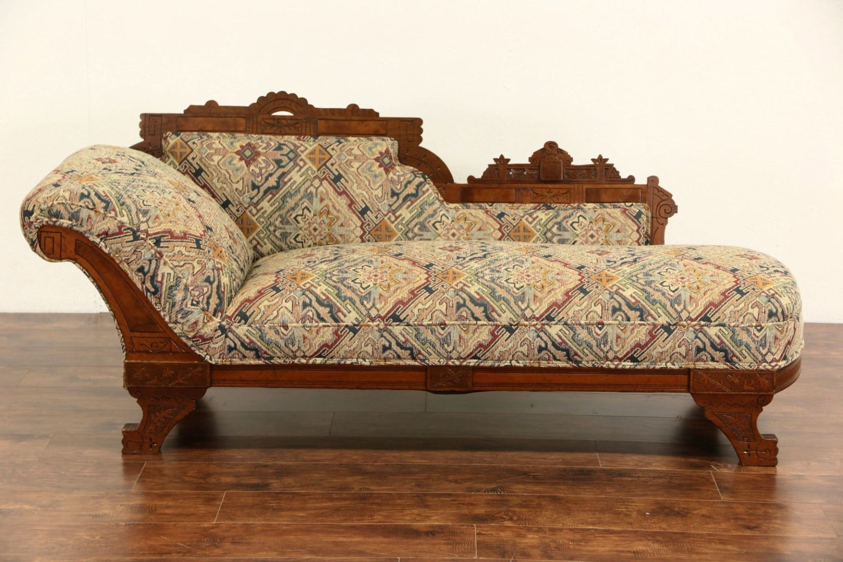 Victorian Eastlake 1880 Antique Chaise Lounge Or Fainting Couch pertaining to Widely used Victorian Chaise Lounges