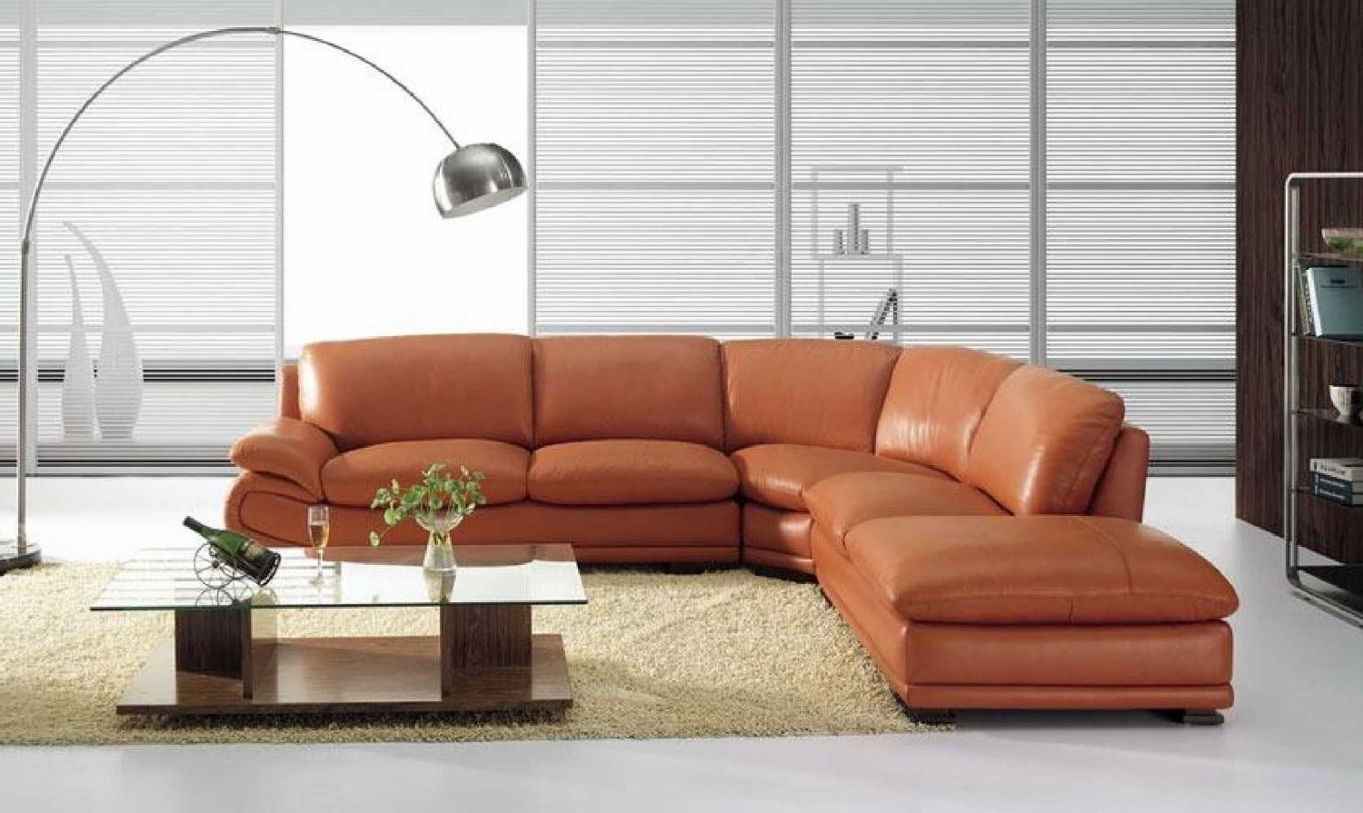 Vig Furniture Bo 3920 Leather Modern Camel Sectional Sofa Inside Most Popular Camel Sectional Sofas (View 14 of 15)