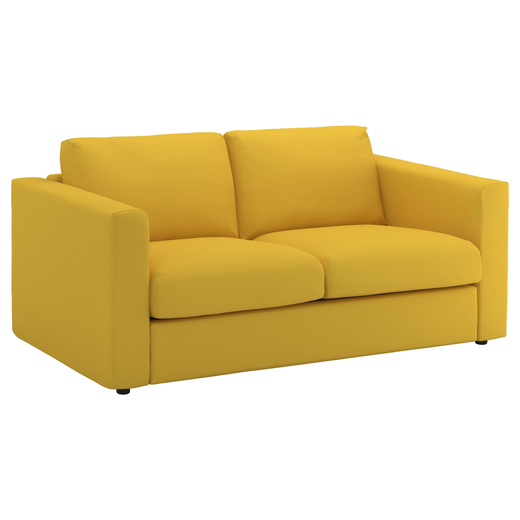 Vimle 2 Seat Sofa Gräsbo Golden Yellow – Ikea Inside Favorite Ikea Two Seater Sofas (Gallery 8 of 15)