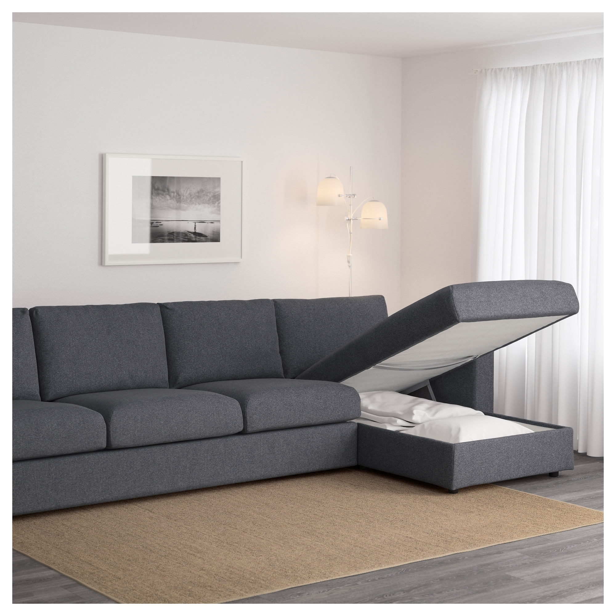 Vimle 4-Seat Sofa With Chaise Longue/gunnared Medium Grey - Ikea intended for 2017 4 Seat Sofas