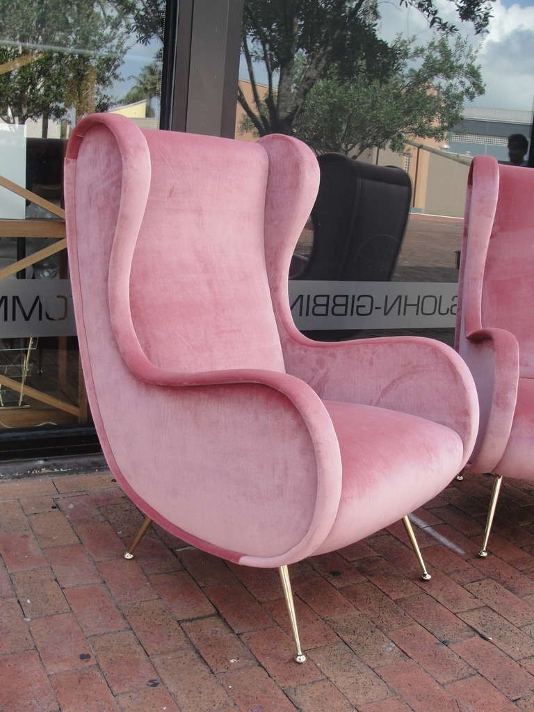 Vintage Chaise Lounge Chairs Pertaining To 2017 Pink Velvet Vintage Chaise Lounge Chair – Google Search (View 15 of 15)