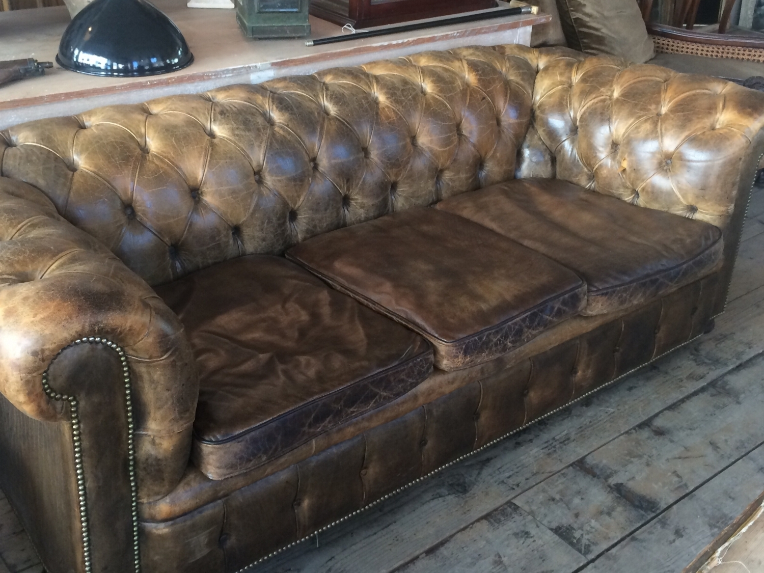 Vintage Chesterfield Sofa In Furniture Pertaining To Current Vintage Chesterfield Sofas (View 7 of 15)