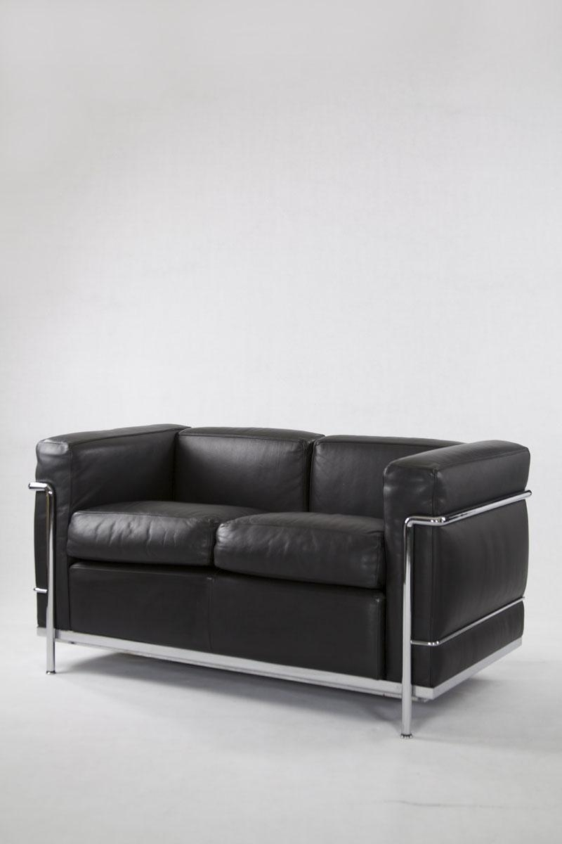Vintage Ic2 Two-Seater Leather Sofa From Cassina For Sale At Pamono with regard to Best and Newest 4 Seat Leather Sofas