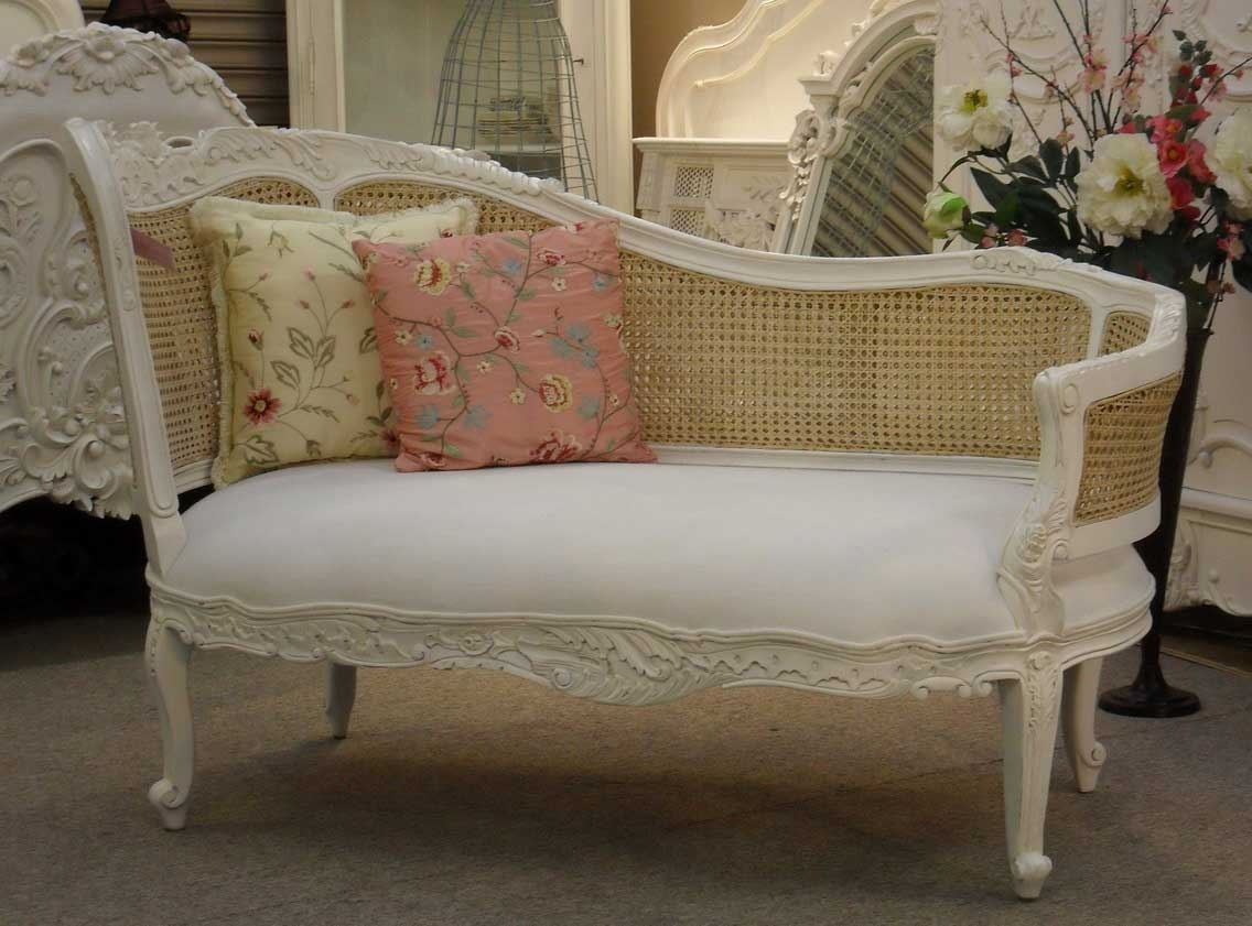 Vintage Indoor Chaise Lounge Chairs In Preferred Shabby Chic White Carved Wood Bedroom Chaise Lounge Chair With (View 7 of 15)