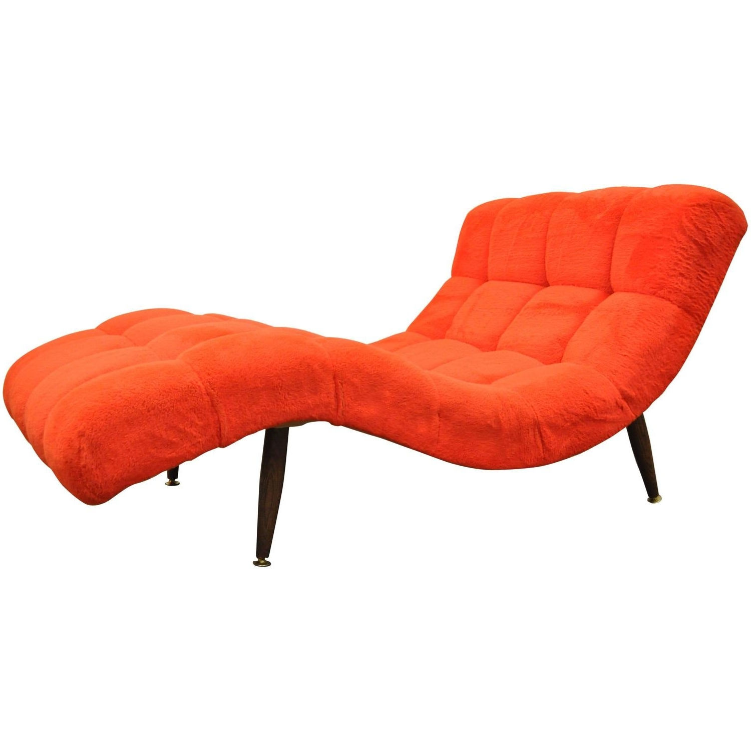 Vintage Mid Century Modern Double Wide Wave Chaise Lounge For Sale Regarding Most Current Mid Century Modern Chaises (View 14 of 15)